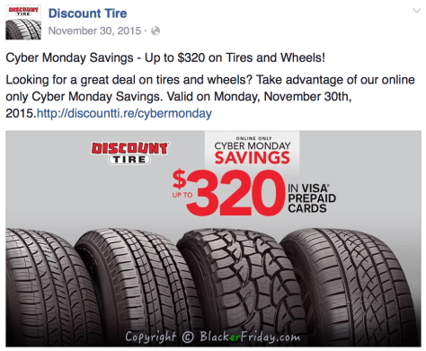 Discount Tire Cyber Monday Ad Scan - Page 1