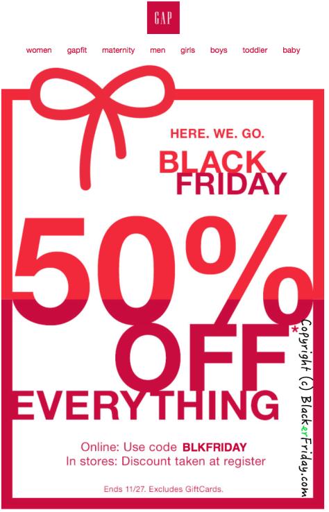 GAP Black Friday Ad - Page 1