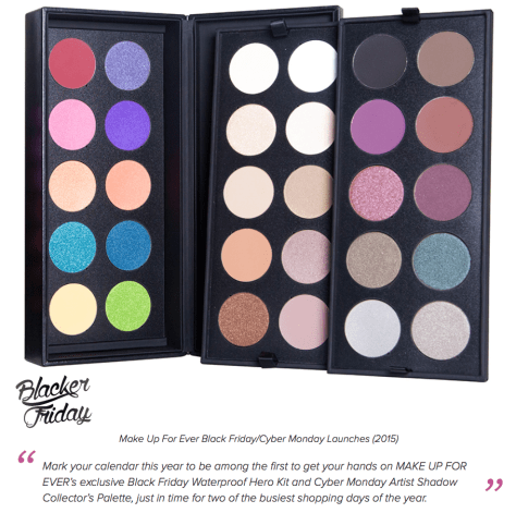 Make Up Forever black friday sales - page 1