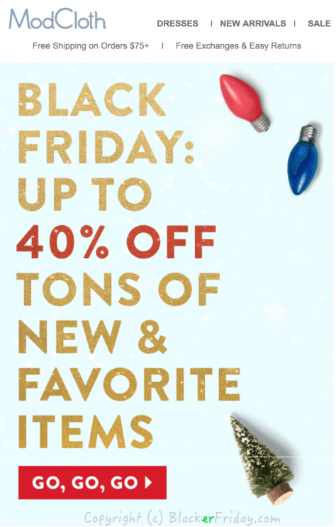 ModCloth Black Friday Ad - Page 1