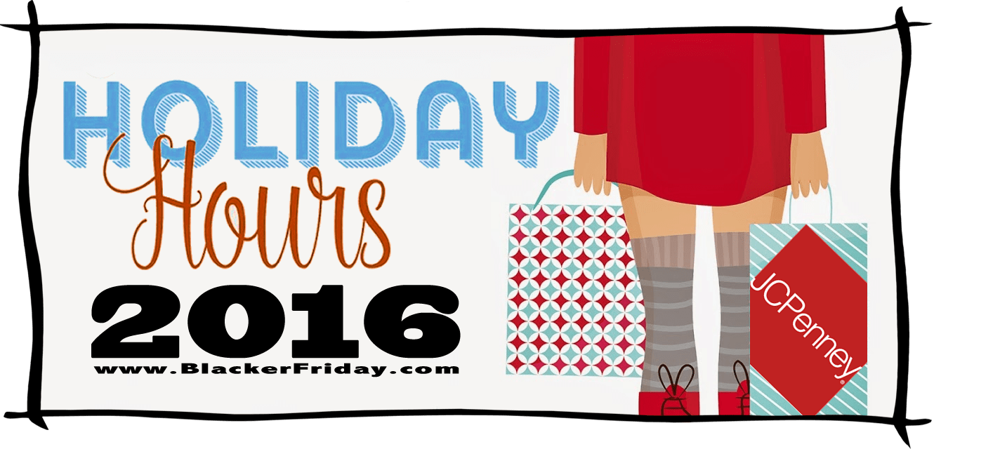 JC Penny Black Friday Store Hours 2016