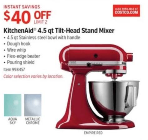 KitchenAid Artisan Mixer Black Friday - Costco