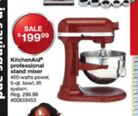 KitchenAid Artisan Mixer Black Friday - Sears