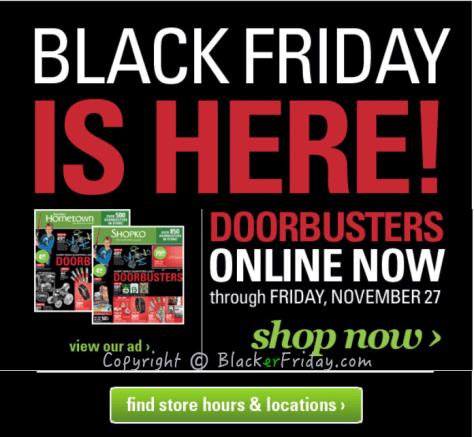 Shopko Black Friday Ad Scan - Page 1