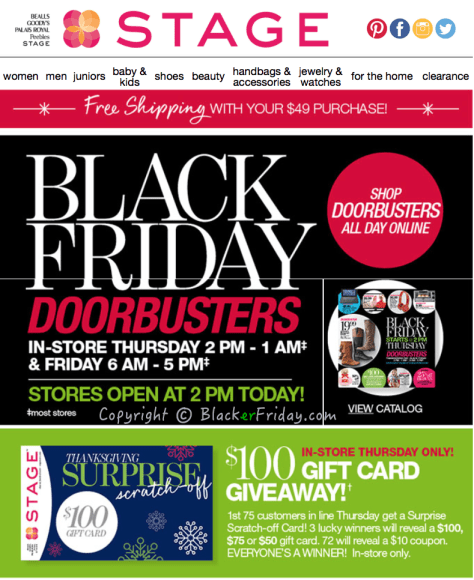 Stage Stores Black Friday Ad Scan - Page 1
