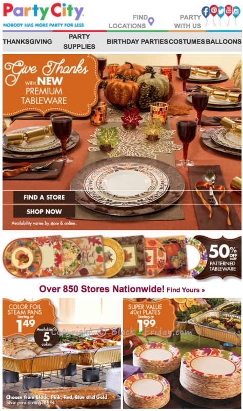 Party City Black Friday Ad Scan 2016 - Page 1