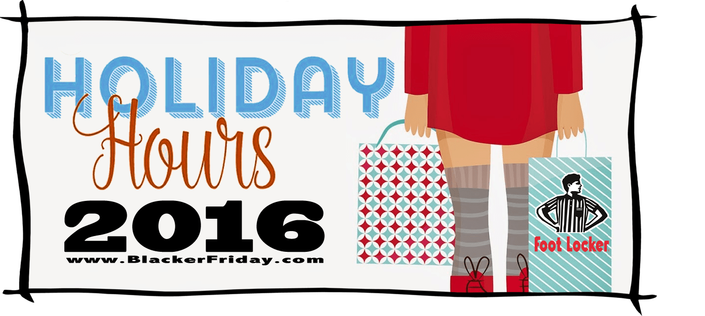 Foot Locker Black Friday Store Hours 2016