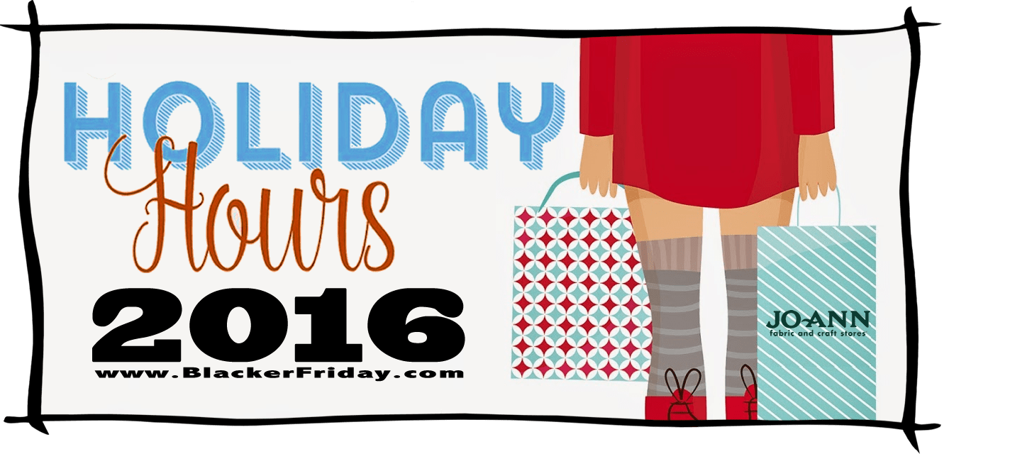 JoAnn Black Friday Store Hours 2016