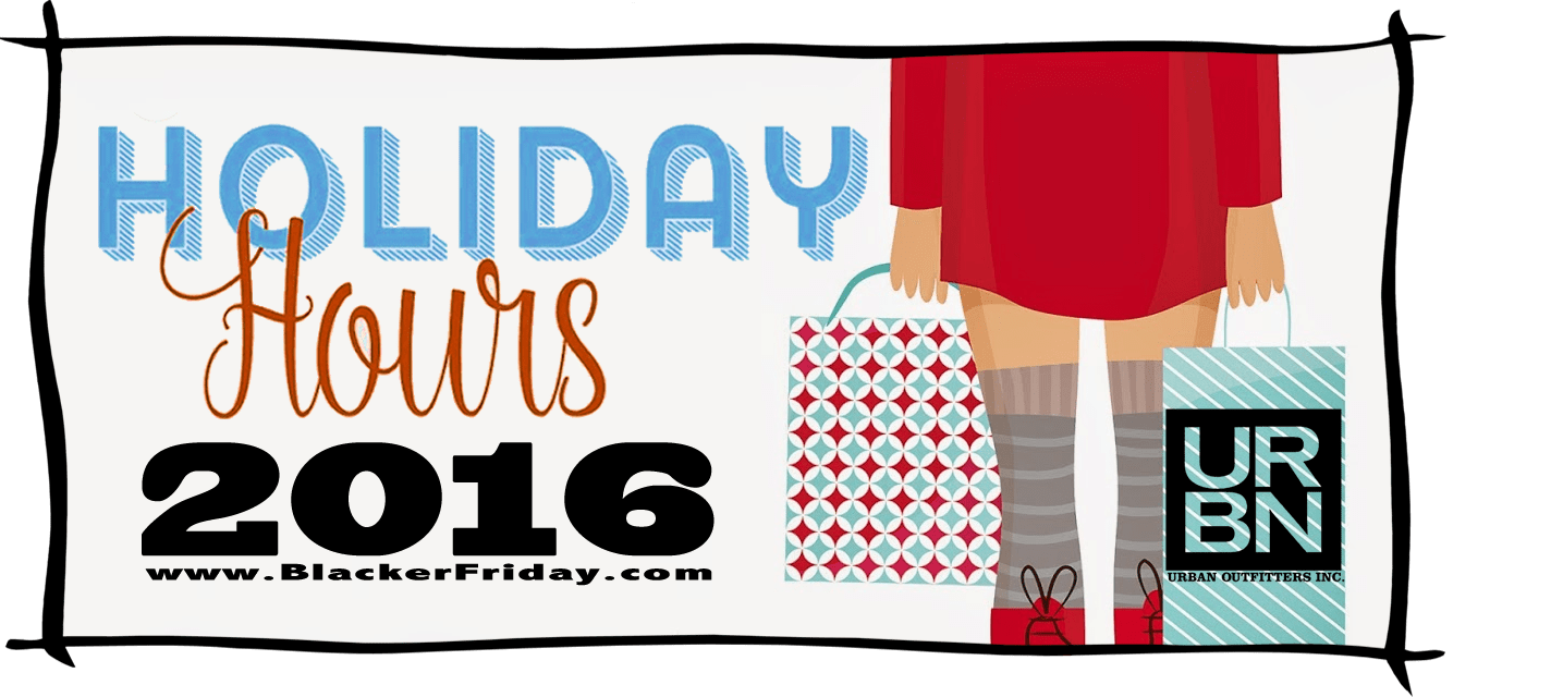 Urban Outfitters Black Friday Store Hours 2016
