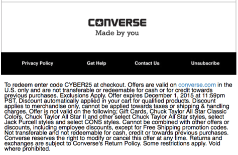 Converse Cyber Monday Sale Ad Scan - Page 2