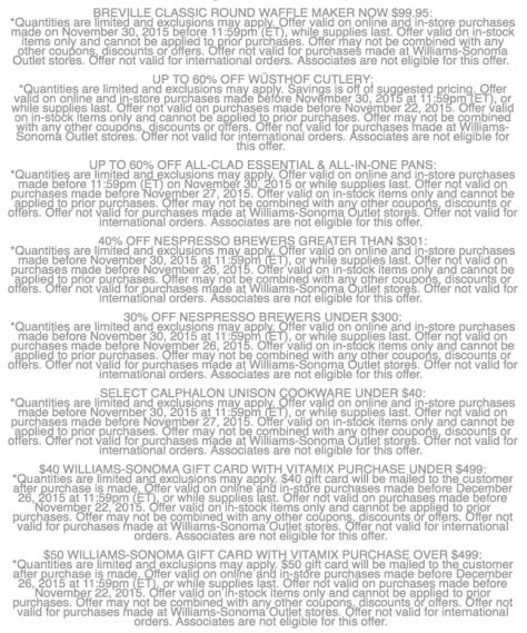 Williams Sonoma Cyber Monday Sale Ad Scan - Page 5