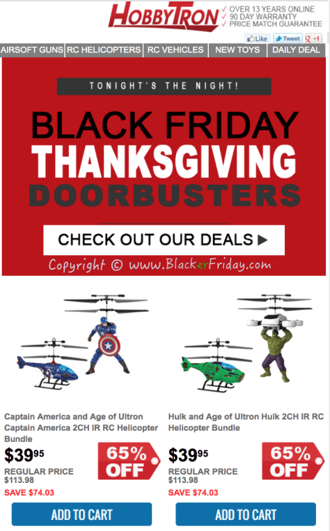 HobbyTron Black Friday Sale Flyer - Page 1