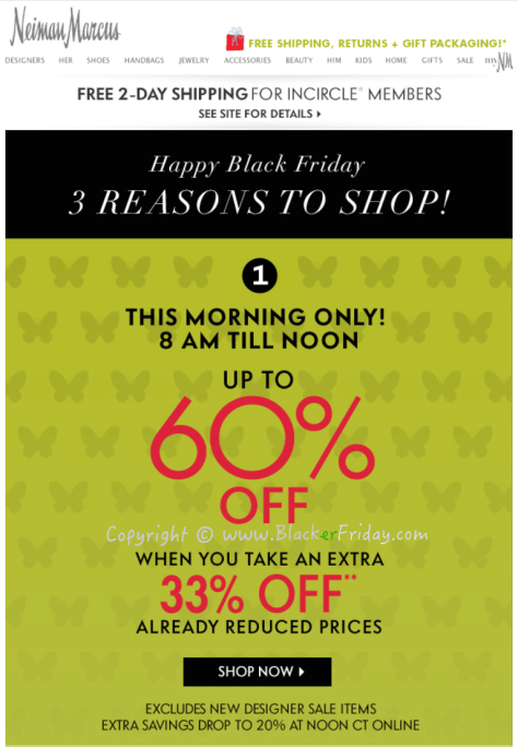 Neiman Marcus Black Friday Sale Ad Flyer - Page 1