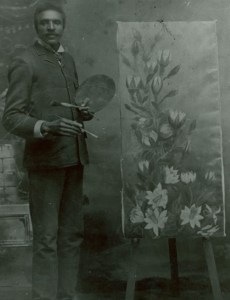 Carver with painting, 1893