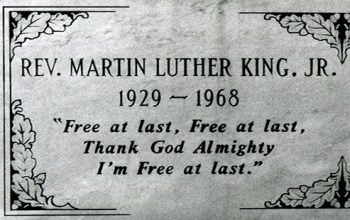 Martin Luther King Jr MLK Memorial Tomb
