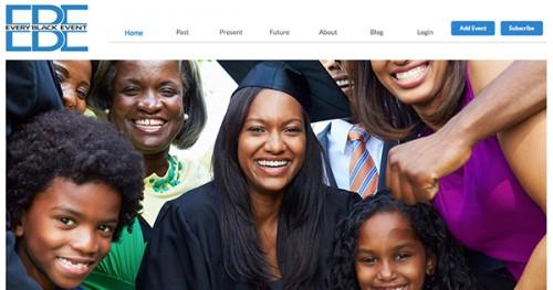 EveryBlackEvent.com snapshot