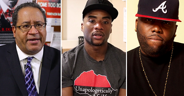 Michael Eric Dyson, Charlamagne the God, and Killer Mike