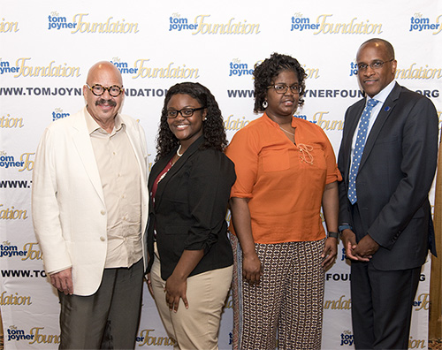 Tom Joyner with scholarship winner, Daudreanna Kimbrough