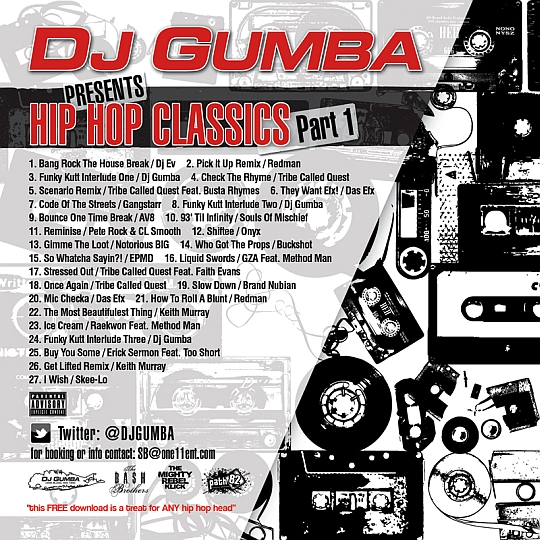 Dj gumba presents hip hop classics part one blackout for Classic house music mixtapes