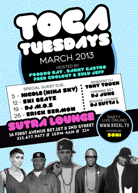 TOCA TUES MARCH 2013