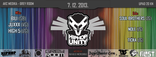 Hip Hop Unity Party: Bili, Juxxx, High5 & Soul Brothers @ Grey Room, 7.12.2013.