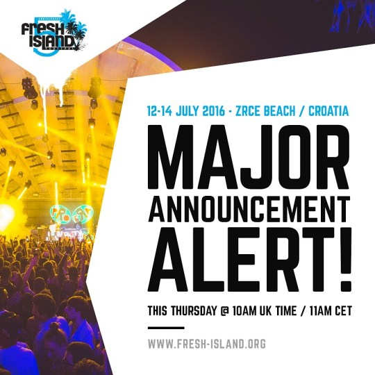 Fresh Island Festival Major Announcement Alert This Thursday!