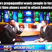 Fox News propagandist flips out because Black man brings up white terrorism using planes