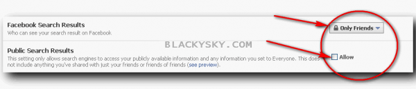 blackysky facebook search privacy