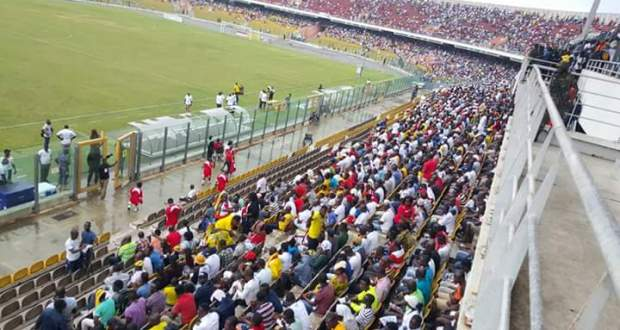 Supporters at the Accra Stadium
