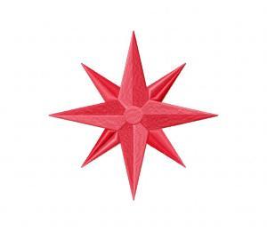 North Star Pink Stitched 5_5 Inch