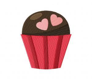 Chocolate Heart Truffle Stitched 5_5 Inch