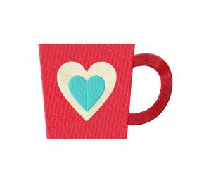 Valentine Coffee Mug Happy Stitched 5_5 Inch