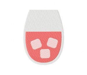 Valentines Day Drink Peach Stitched 5_5 Inch
