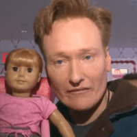 Conan O'Brien dines with Agnes, an opinionated 'dead-eyed' American Girl