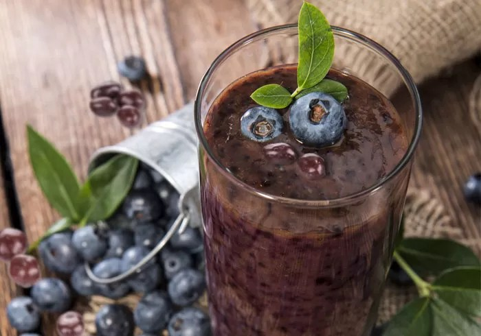Paleo Chocolate Covered Blueberry Smoothie