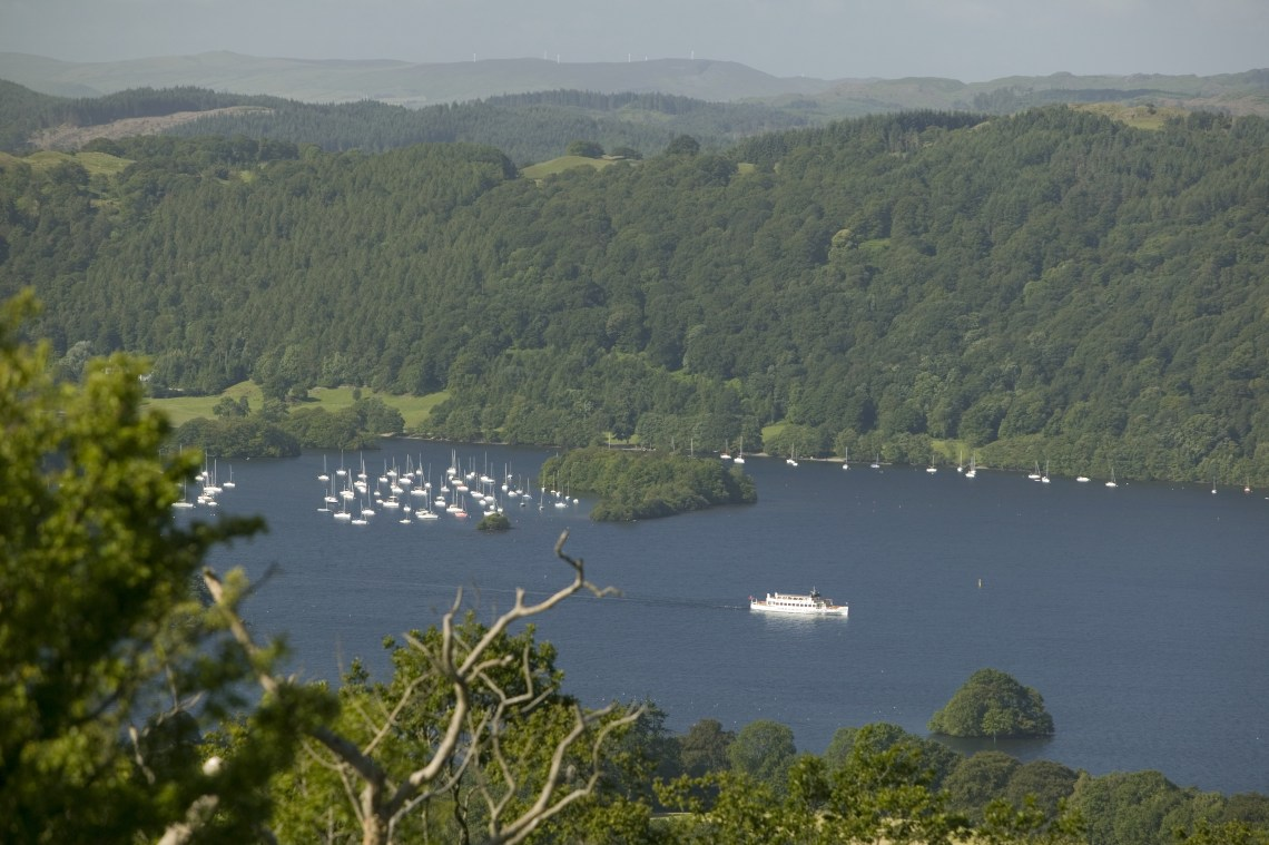 A view of Lake Windermere from Orrest Head, Windermere.