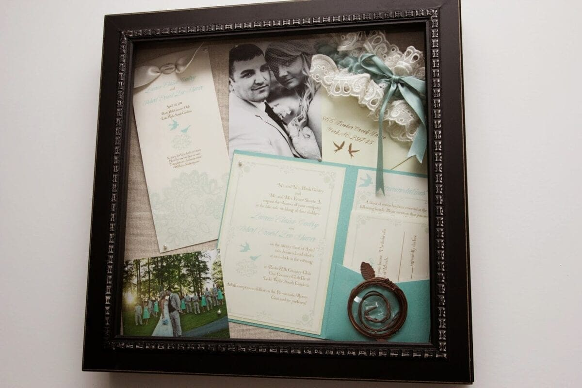 wedding week i accessorizing with love wedding shadow box After our wedding I held onto a shoebox filled with all sorts of randomness Once I saw this shadowbox in Marshall s for 10 I knew exactly my solution