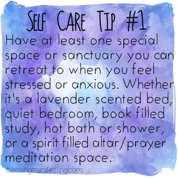 Self Care Tip: Sanctuary