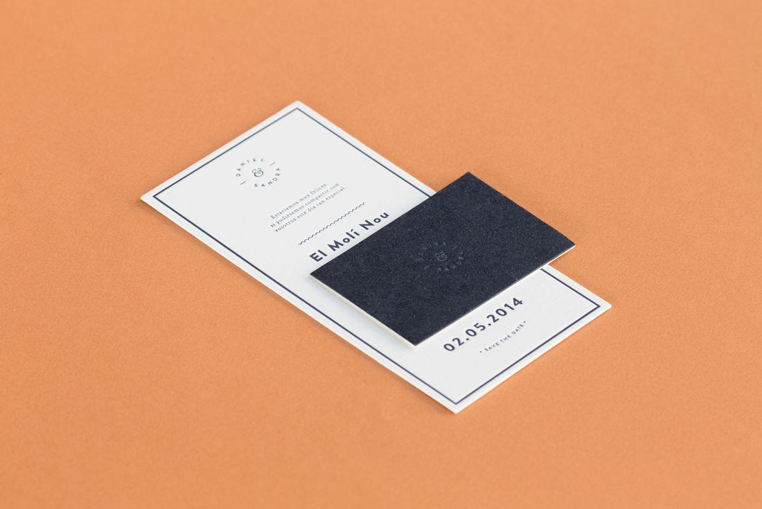 Tarjetón de boda por Bleuete