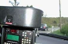 Mobile Geschwindigkeitsmessung im Einsatz. (Foto: HSK)