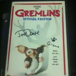 My autographed copy of Gremlins!