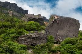 安達太良山クライミング