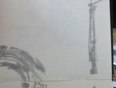 La première ébauche pour apprendre à dessiner un flou