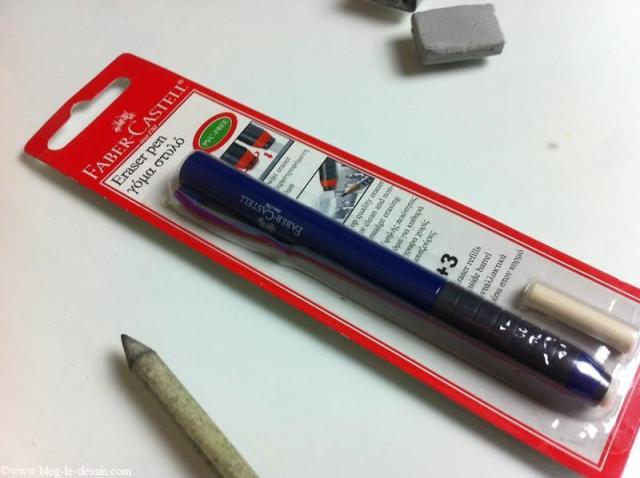Une gomme rétractable pour vous être utile lorsque vous dessinez sans être indispensable.