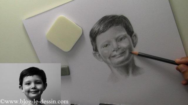 Travailler les ombres avec minutie pour affiner le modelé du faciès.