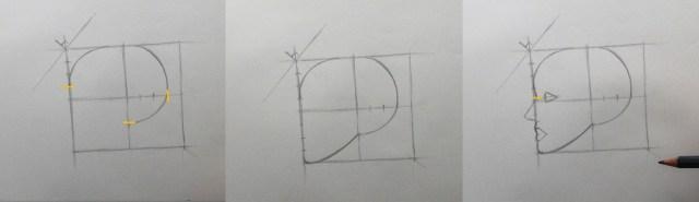 apprendre a dessiner etape par etape contour crane