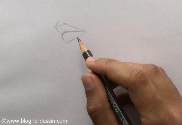 esquisse pour dessiner une bouche avec des lignes droites