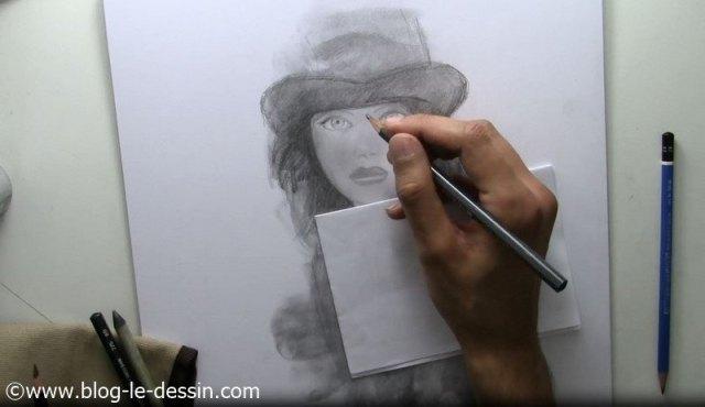 tutoriel dessiner fille visage crayon 5B expression