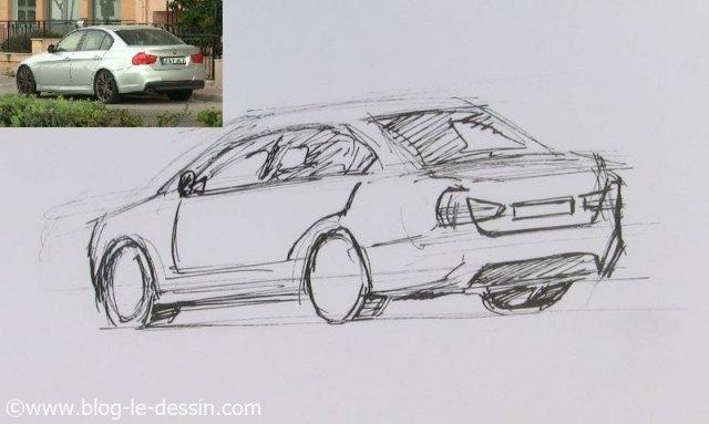 Dessiner une voiture sportive la m thode facile - Dessiner une voiture ...