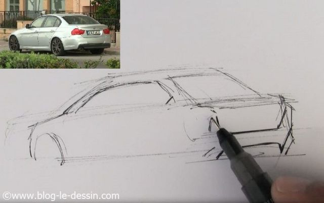 Dessiner une voiture sportive la m thode facile - Dessiner une voiture facile ...
